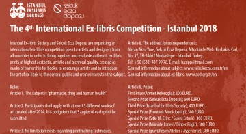 The 4th International Ex-libris Competition – Istanbul 2018