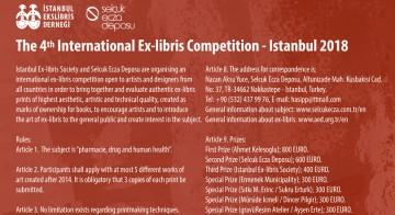 4. Uluslararası Ekslibris Yarışması – İstanbul 2018